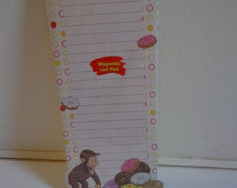 Collectible Curious George & Donuts Magnetic To Do List Destash Sale! Cute Ephemera Stationery Paper New in Package Party Favors Gifts