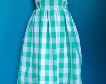 Gingham hight waisted skirt