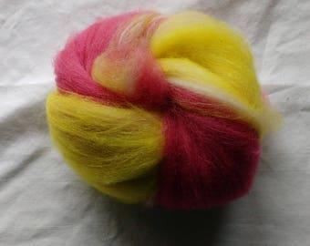 Memories - Alpaca batt Pink, white, and yellow