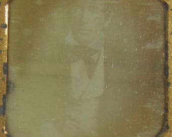 Original 1840's Wealthy Young Man Encased Daguerreotype Photograph - Free Shipping