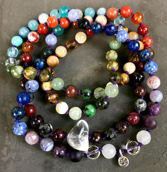 7 Chakra Mala - 108 Chakra Mala - Chakra Mala Necklace - 7 Chakra Bracelet - Yoga Jewelry - Healing Stones - Meditation Beads, Yoga Jewelry