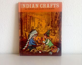 "Vintage 1968 Children's Book: ""Indian Crafts"", by Janet and Alex D'Amato"