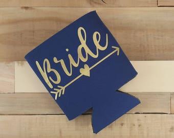 Bride Cozie, Bachelorette Party, Wedding Cozie, Bachelorette Cozie, Can Cooler, Wedding Cozies, Wedding Gift, Can Hugger, Custom Cozies