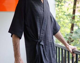 mens kimono, mens yukata, kimono cardigan, boho kimono, kimono dress wrap, kimono boho dress, boho kimono jacket, beach kimono, black kimono