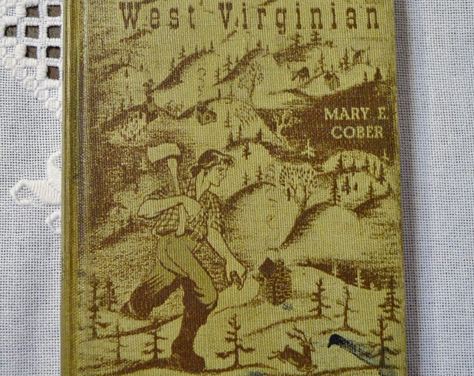 Tony Beaver West Virginian Vintage Book Well Worn Craft Supplies Bookshelf Decor PanchosPorch