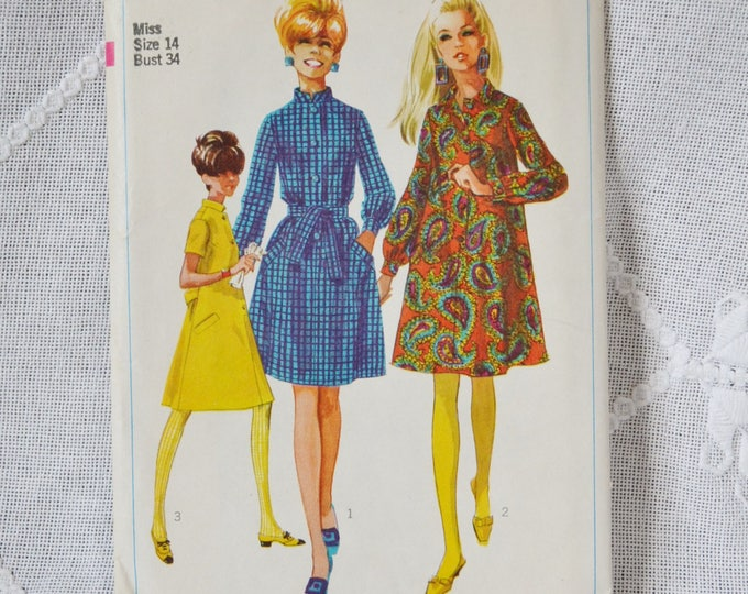 Simplicity 7296 Sewing Pattern Misses Step In Dress Size 14 DIY Fashion Sewing Crafts PanchosPorch