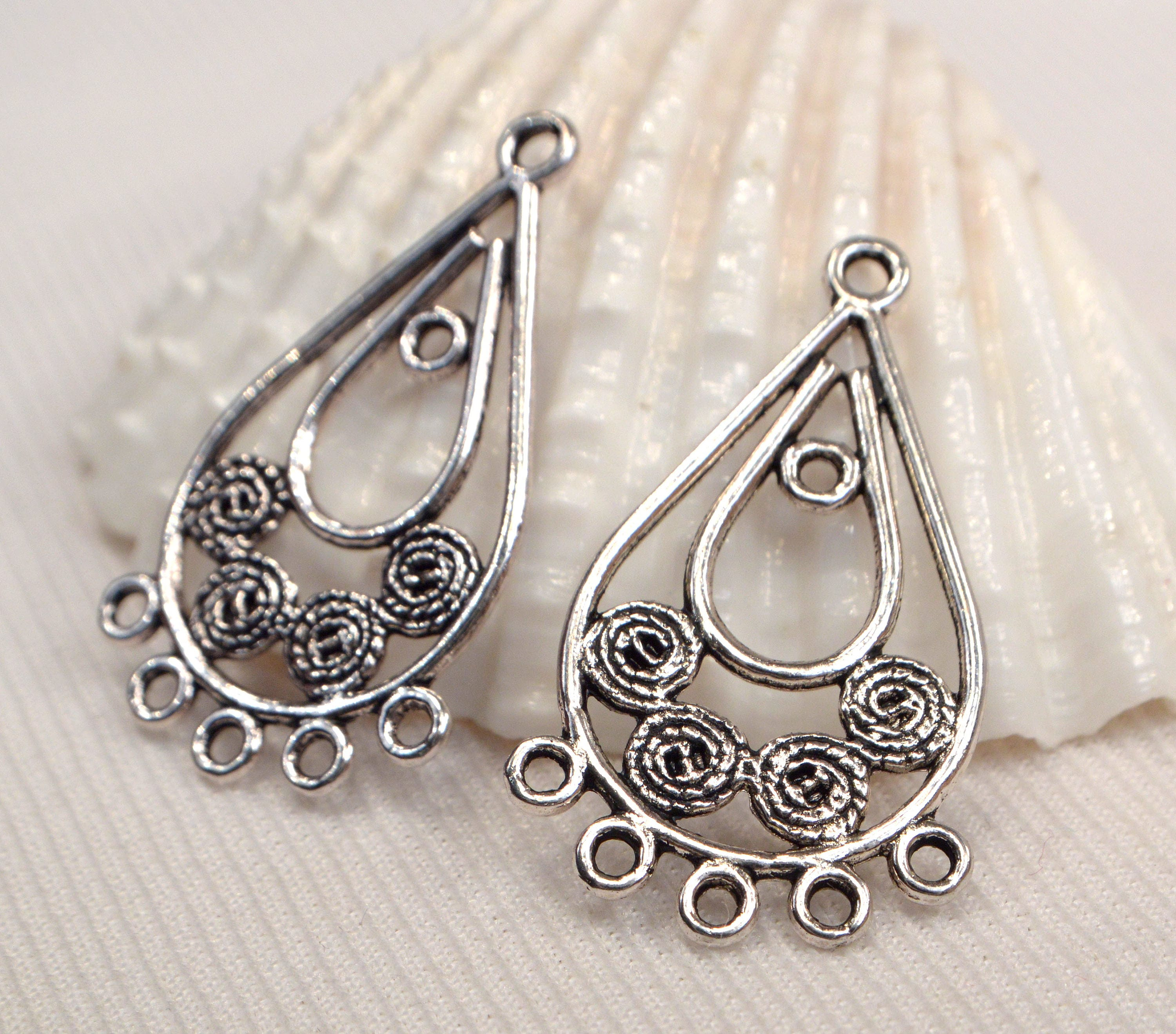 Silver filigree earring making supply silver metal chandelier sold by beadvault arubaitofo Image collections