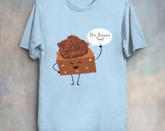Brownie Time! - Cute Food Kawaii Shirt Chocolate T-Shirt