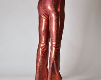 Red Hot! Shiny Holographic Leggings & Flare pants