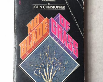 John Christopher NO BLADE of GRASS Science Fiction 1980 paperback dystopian book