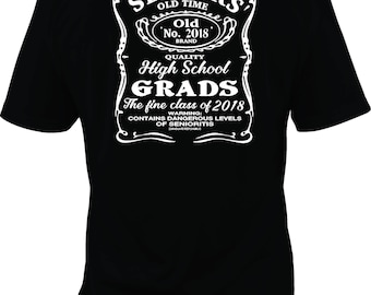 Senior 2018, contains high levels of senioritis, class of 2018 shirt, 2018 grad shirt, graduation shirt, Senior shirt, 2018 shirt, to 5x