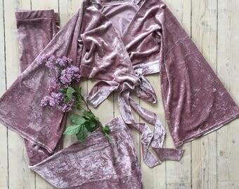 Velvet wrap top boho bohemian hippie