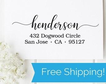 Custom Self Inking Return Address Stamp, self ink address stamp, wedding stamp, wedding engagement gift, housewarming gift  (D206)