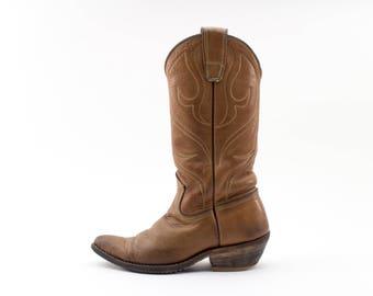 70s Vintage Stewart Cowboy Boots   Handmade 1977 Boots   Amazing Quality   Size US Women's 4.5  EU 35  UK 2.5