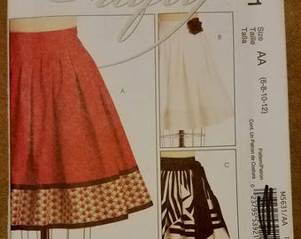 McCall's 5631 - Misses Skirt Pattern - Sizes 6, 8 10, and 12 - Ladies Flared Skirt Pattern