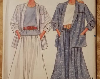 Butterick 4841 - Misses' Jacket, Top & Skirt Pattern - Sizes Petite to Medium - Ladies and Women's Vintage Fast and Easy Pattern