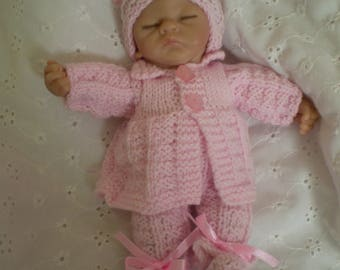 """Hand Knitted 8"""" Outfit to fit Ashton Drake/similar dolls"""