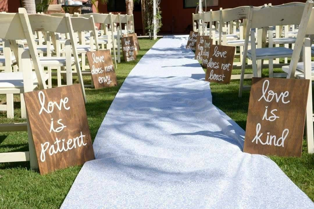 Wedding Reading Love Is Patient: Wedding Aisle Signs Set Of 10 Corinthians 13 Signs Love Is