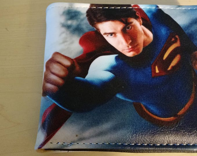 Synthetic Leather Wallet - Superman Flying