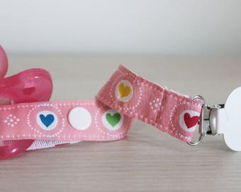 Pacifier Clip, Pacifier holder, Soothie pacifier, Baby girl pacifier clip, dummy clip, girl pacifier clip, Binky Clips, Baby Girl pacifier