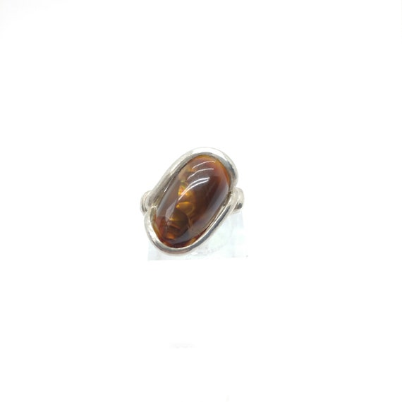 Mexican Fire Agate Ring | Sterling Silver Ring Sz 5.5 | Fire Agate Jewelry | Rare Gemstone Ring | Gift for a Active Mom | Gift for Her