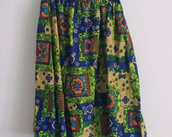 60s Psychedelic Print Skirt