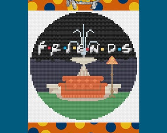 Friends TV Modern Cross Stitch Pattern