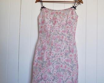 pastel floral slip dress