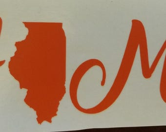 "Illinois ""HOME"" Vinyl Sticker"