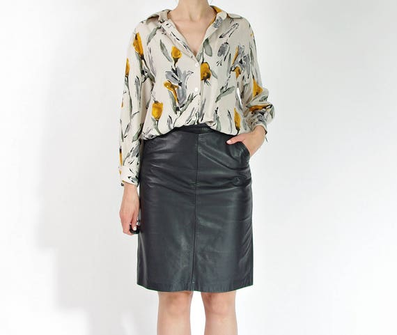 SALE - 90s Gina G summer flower women shirt / size M-L