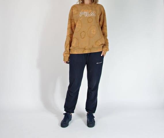 90s FILA unisex oldschool tie dye sportswear sweatshirt / size L/XL