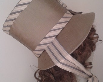 Regency Replica Bonnet in Silk, handmade