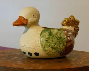 Vintage Rustic Ceramic Duck