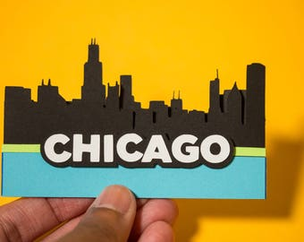 Chicago Skyline Card - Chicago Art - Chicago Card