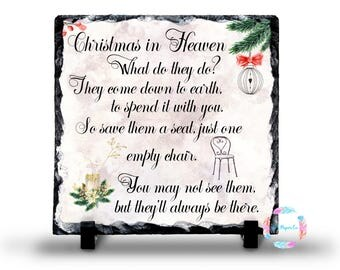 Christmas in heaven poem | Etsy