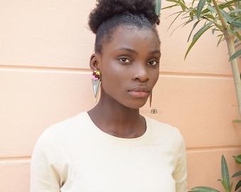 Ima African fabric earrings, bijoux wax, bijoux africains, african jewelry for women, african jewelry, bijoux ethniques, tribal earrings