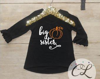 Big Sister Shirt / Halloween Baby Announcement Halloween Big Sister Shirt Pregnancy Announcement Shirt Sibling Shirt Baby Announcement 186