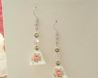 Flower Bell Hook Earrings