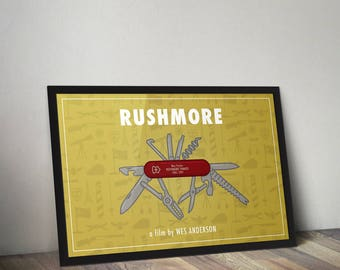 Rushmore Wes Anderson Movie Poster Print