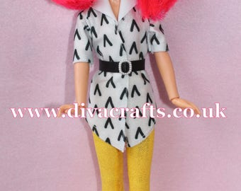Handmade by Cazjar Jem and the Holograms Hasbro Doll Fashion Kimber Boomerang Blouse