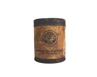 Rare Johnson Oil Can 1930s Johnson Pressure Gun Grease Small Oil Can Rare Antique Time Tells Johnson Oil Company