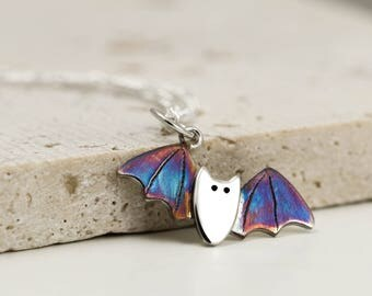Sterling Silver Bat Necklace - Bat Jewellery