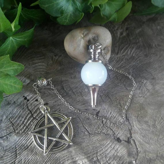 Crystal Pendulum - Dowsing Pendulum - Opalite Pendulum - Pendulum - Divination Pendulum