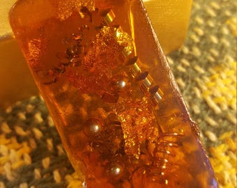 Real Natural Orgonite - Organic - *(less than .1% synthetic food grade sealer over early amber)