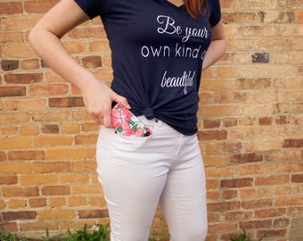 Be Your Own Kind Of Beautiful Women's V-Neck Tee Shirt