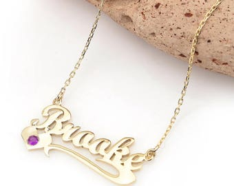 Custom Name Necklace - Custom Name Plate Necklace - Name Necklace - Personalized Name Necklace - Tiny Gold Name Necklace - Name Jewelry