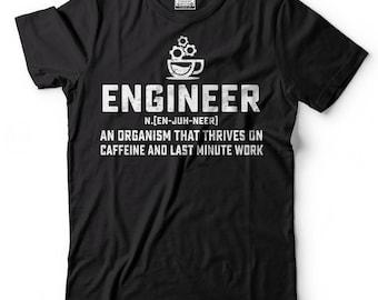 Engineer T-Shirt Engineer Noun Coffee Funny Occupation Graphic Tee Shirt