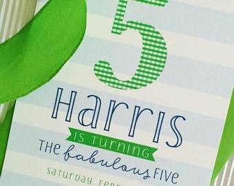 Fabulous Five Birthday Invitation
