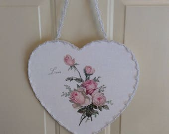 Sparkling LOVE Pink Roses Heart