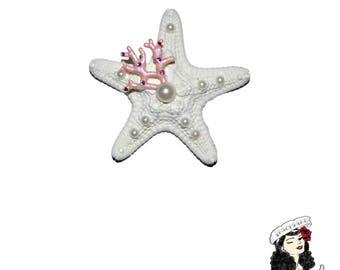 Starfish Fancy Mermaid Hair Clip - Ocean Nautical Pinup Hair accessory